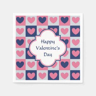 Herz-Muster-Valentinsgruß Papierservietten