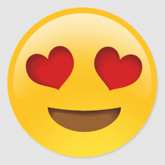 Herz mustert emoji Aufkleber