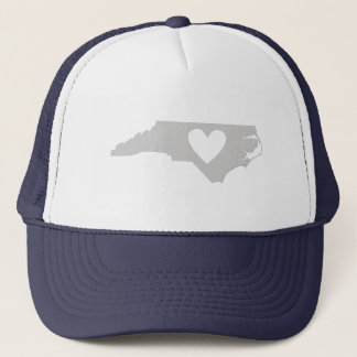 Herz-Nord-CarolinaStaats-Silhouette Truckerkappe