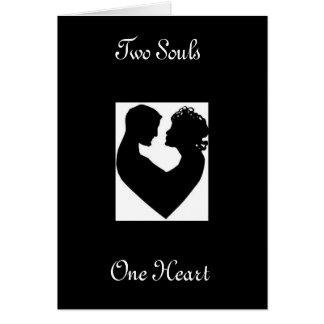 Herz-Paare, zwei Soule, ein Herz Karte