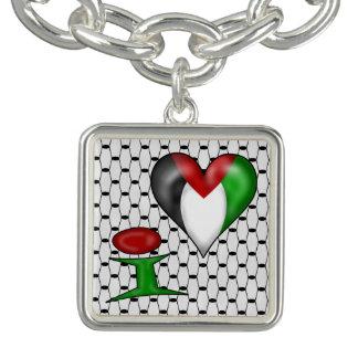 Herz Palästina Liebe I Palästinas I Charm Armband