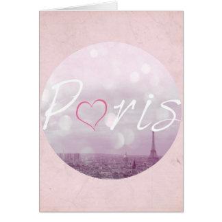 Herz-Paris-Rosa Karte