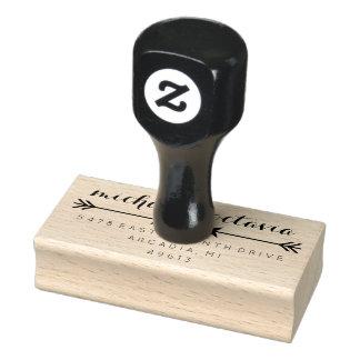 Herz-Pfeilchic-Rücksendeadresse-Gummi-Briefmarke Gummistempel