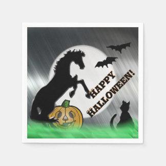 Herz-Pferde V Halloween Papierserviette
