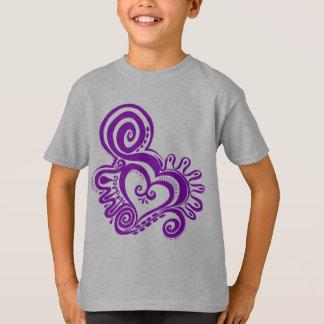 Herz-Power - Pflaume T-Shirt