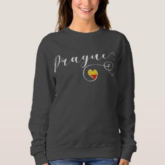 Herz-Prag-Sweatshirt, Tschechische Republik Sweatshirt