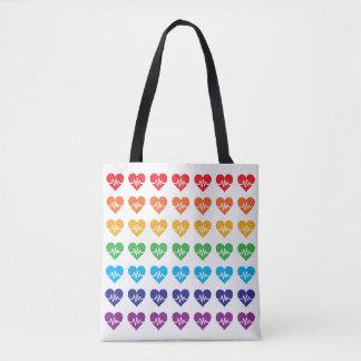 Herz-Regenbogen Orlandos starker Impuls-49 Tasche