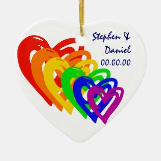Herz-Regenbogen Weihnachtsornament