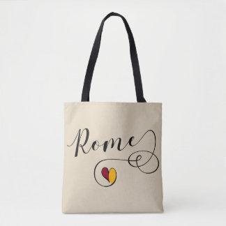 Herz-Rom-Flaggen-Einkaufstüte, italienisch Tasche