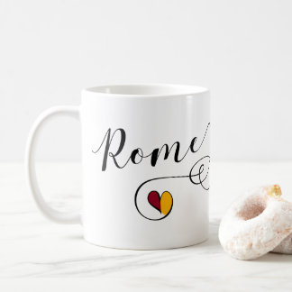 Herz-Rom-Tasse, Italien, italienisch Kaffeetasse