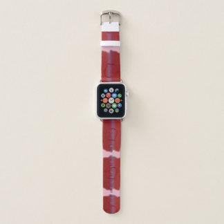 Herz rosarot und lila apple watch armband