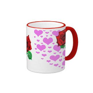 Herz-Rose Kaffee Haferl