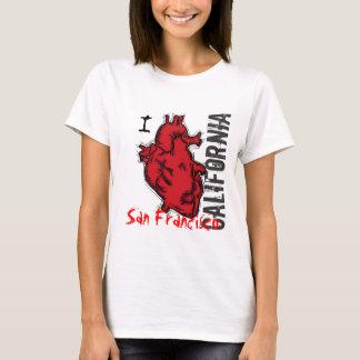 Herz-San Francisco Kalifornien Damenbehälter T-Shirt