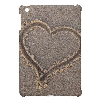 Herz-Sand-Strand-Sommer-SeeLiebe-Ferien-Reise iPad Mini Hülle