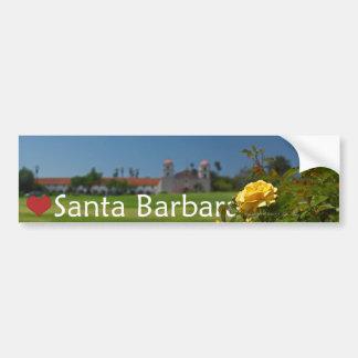 Herz Santa Barbara Autoaufkleber