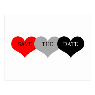 Herz Save the Date Postkarte