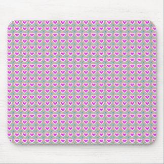 Herz-Schatz-Rosa-Sammlungsgeschenke Mousepad