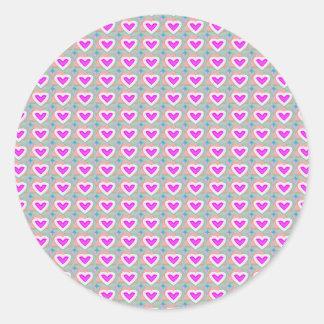 Herz-Schatz-Rosa-Sammlungsgeschenke Runder Aufkleber
