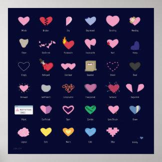 Herz schreibt Plakat