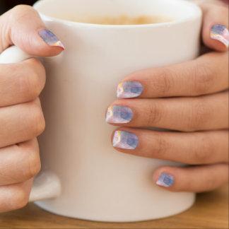 Herz-so blaue Nagel-Verpackungen Minx Nagelkunst