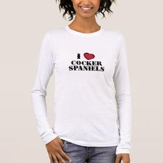 (Herz) Spaniels Cockerspaniel-I Langarm T-Shirt