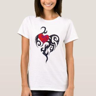 Herz Stammes- T-Shirt