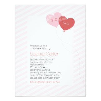 """Herz steigt 4,25"""""""" Einladung des Brautparty-x5.5 10,8 X 14 Cm Einladungskarte"""