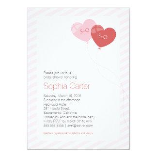 """Herz steigt 4,5"""""""" Einladung des Brautparty-x6.25 11,4 X 15,9 Cm Einladungskarte"""