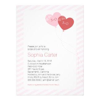 Herz steigt 6 5 Einladung des Brautparty-x8 75