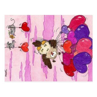 HERZ STEIGT Postkarte durch Nicole Janes im Ballon