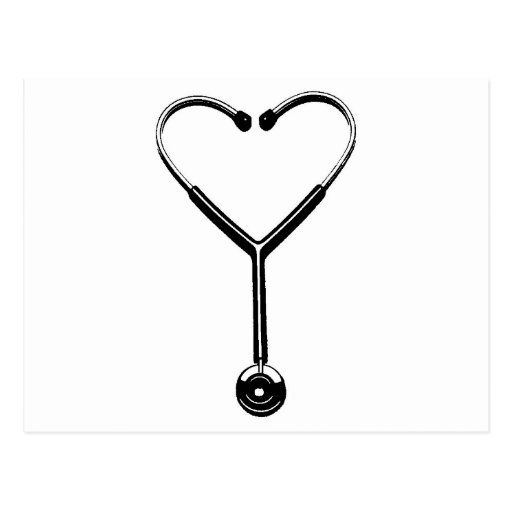 Herz Stethescope Postkarte