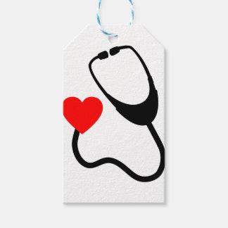Herz-Stethoskop Geschenkanhänger