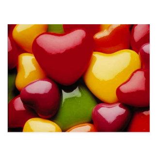 Herz-Süßigkeit Postkarte