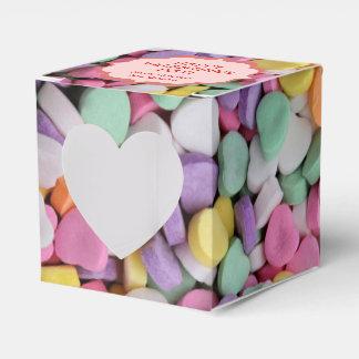 Herz-Süßigkeits-Muster-personalisierte Geschenkschachtel