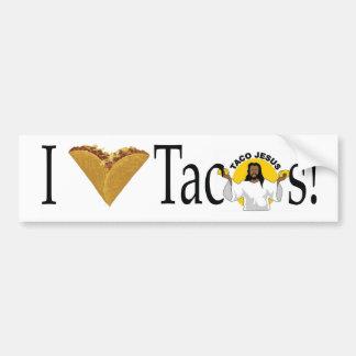 (Herz) Tacos I Autoaufkleber