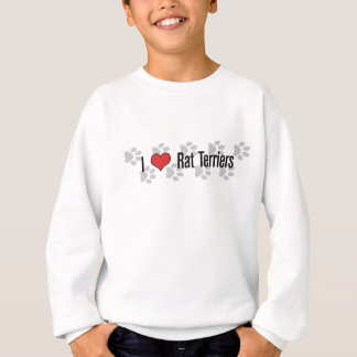 (Herz) Terrier Ratten-I Sweatshirt