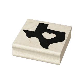 Herz Texasder gummikunst-Briefmarke Gummistempel
