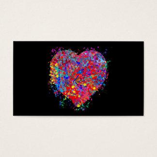 Herz, Tropfen-Kunst Visitenkarte