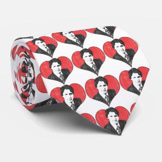 Herz Trudeau Liebe Personalisierte Krawatte