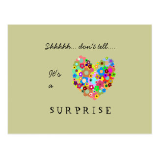 Herz-Überraschungs-Party Einladungs-Postkarte Postkarte