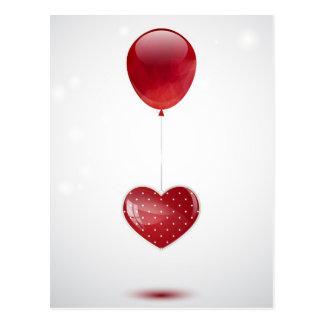 Herz und Ballon Postkarte