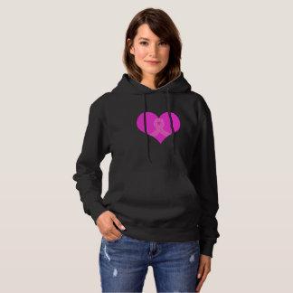 Herz-und Band-Brustkrebs-Wohltätigkeit-Entwurf Hoodie