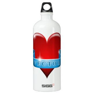 Herz und Band mischen Liebe wieder Aluminiumwasserflaschen
