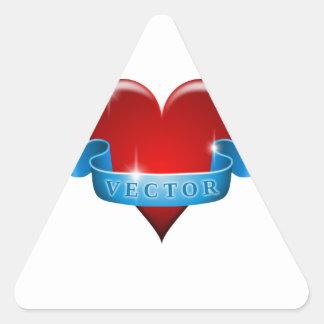 Herz und Band mischen Liebe wieder Dreiecks-Aufkleber