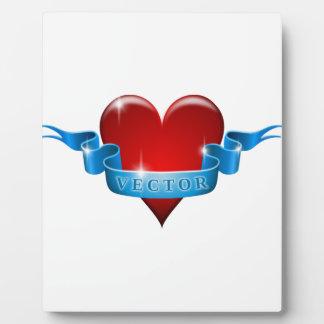 Herz und Band mischen Liebe wieder Fotoplatte