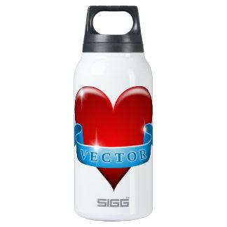 Herz und Band mischen Liebe wieder Isolierte Flasche