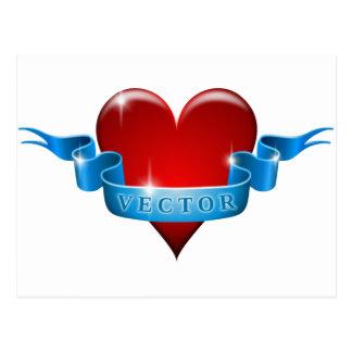 Herz und Band mischen Liebe wieder Postkarte