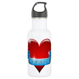 Herz und Band mischen Liebe wieder Trinkflaschen
