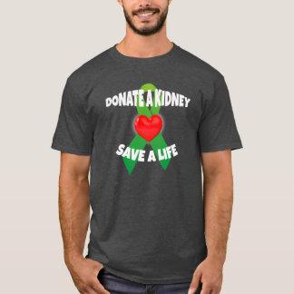 Herz-und Band-Nieren-Spenden-Bewusstsein T-Shirt