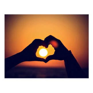 Herz und der Sun Postkarte
